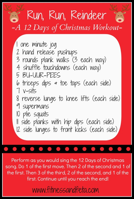 Run Run Reindeer Workout