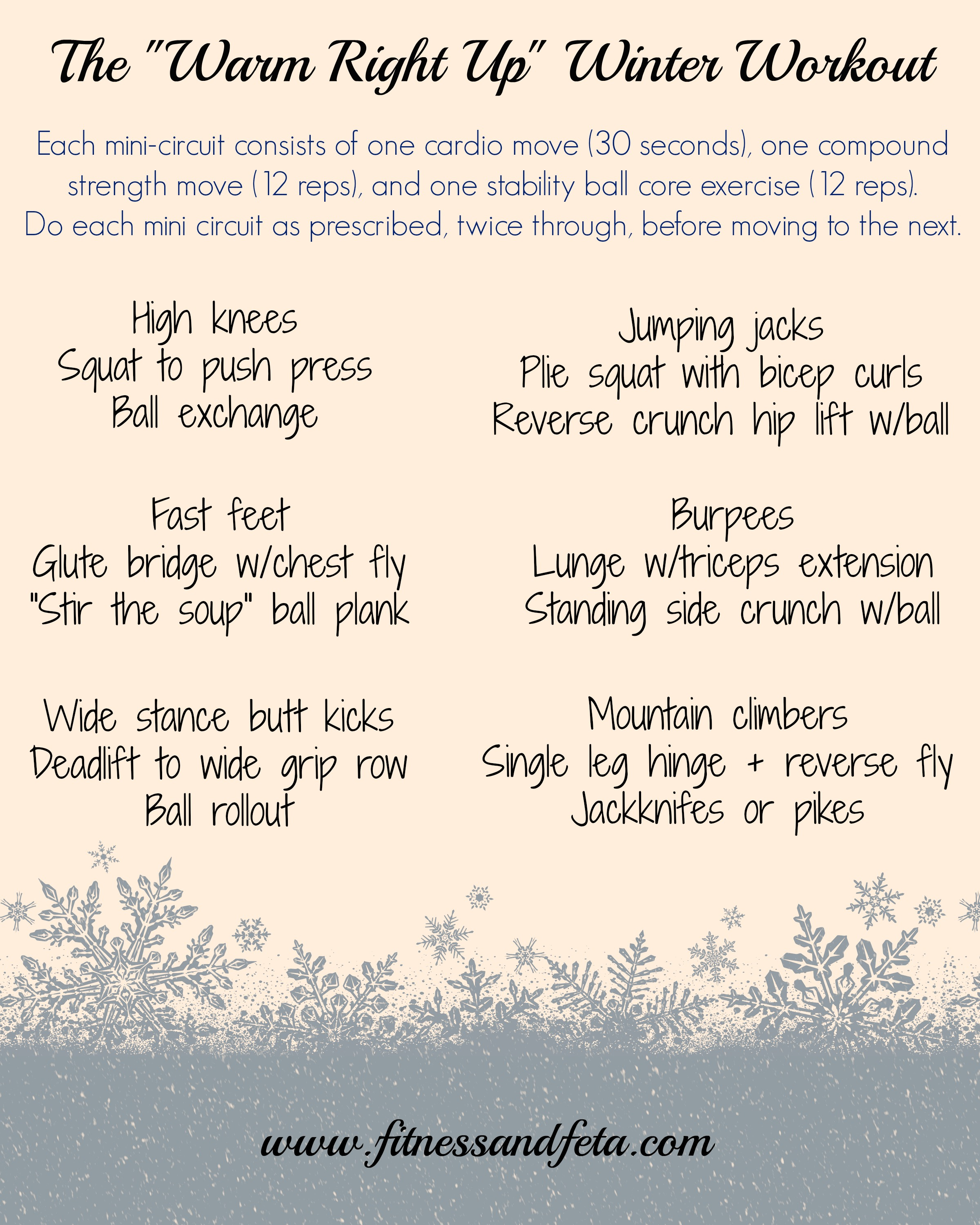 Warm Right Up Winter Workout