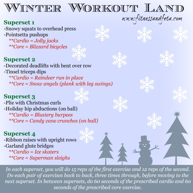 Weekly workouts holiday themed fitness amp feta