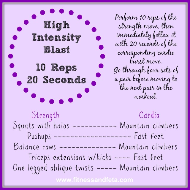 High Intensity Blast: 10 Reps 20 Seconds