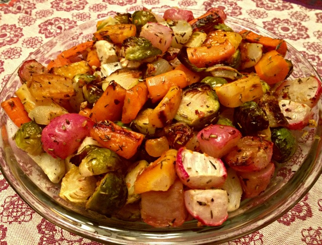Colorful Roasted Winter Vegetables