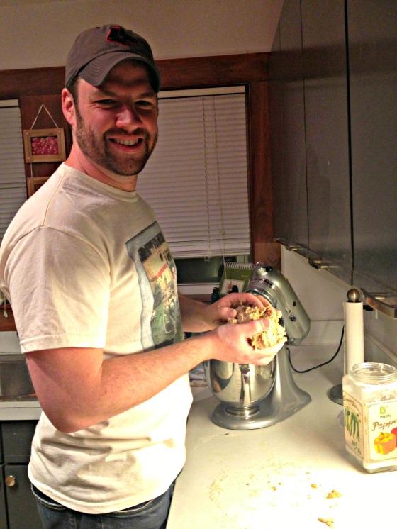 Tim making bread