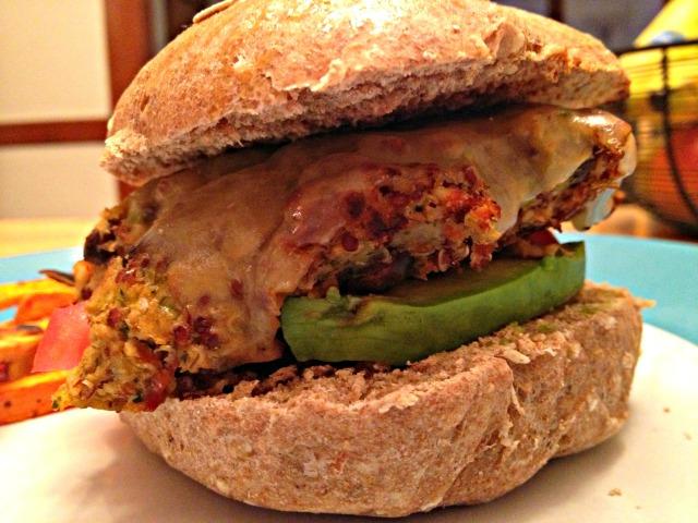 Veggie Burgers on Homemade Rolls