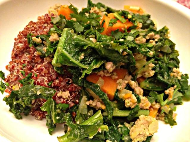 Turkey and Kale Quinoa Bowl
