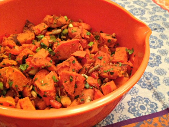 Roasted Yam Salad