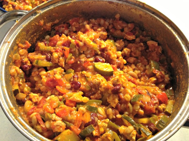 Turkey, Barley, and Veggie Chili