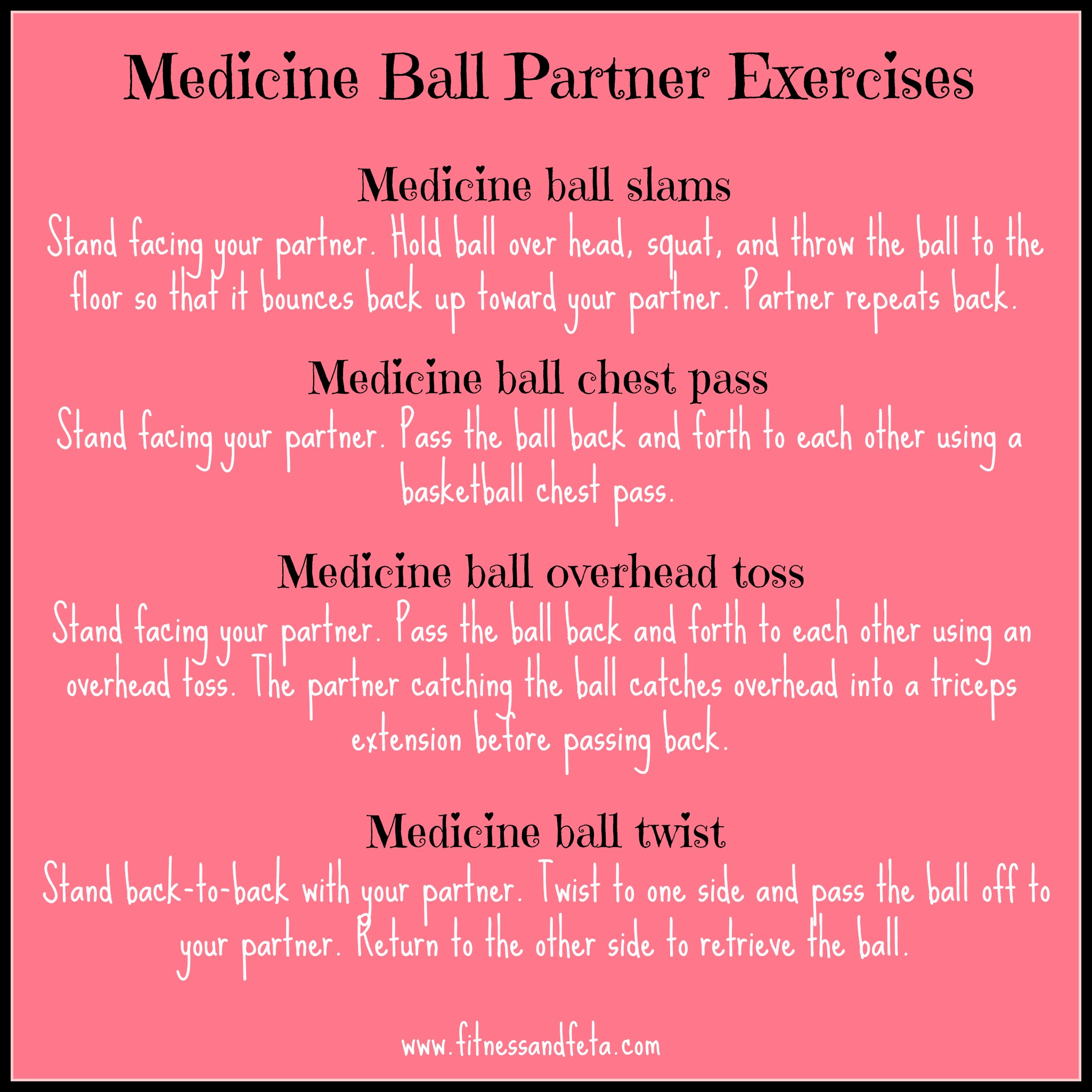 Medicine Ball Partner Exercises