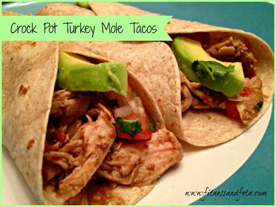 Crock Pot Turkey Mole Tacos