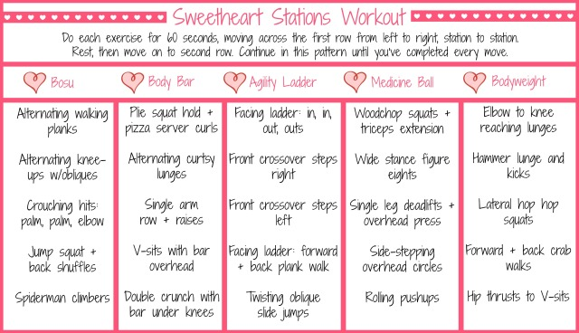 Sweetheart Stations Workout