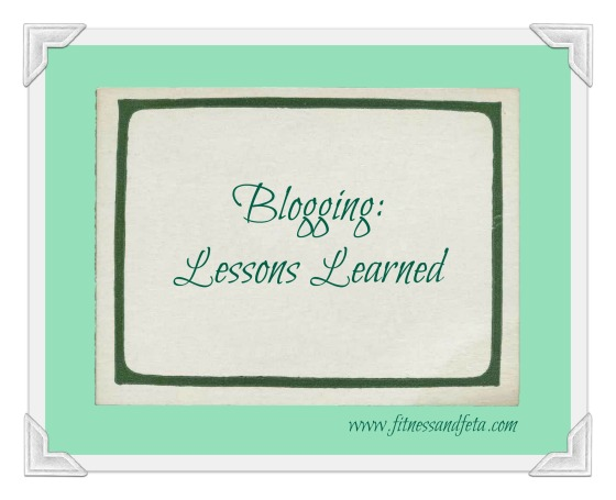 Blogging Lessons Learned