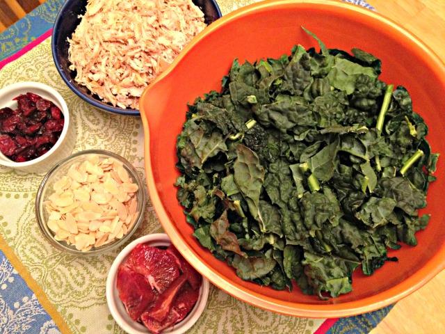 Kale and Blood Orange Salad Ingredients