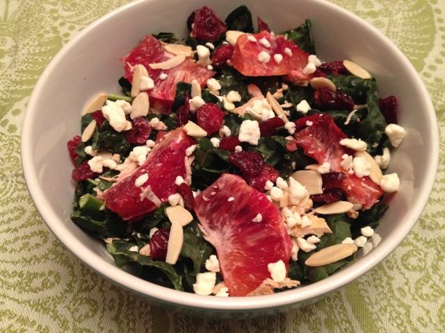 Kale and blood orange salad