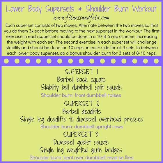 Lower Body Supersets & Shoulder Burn Workout