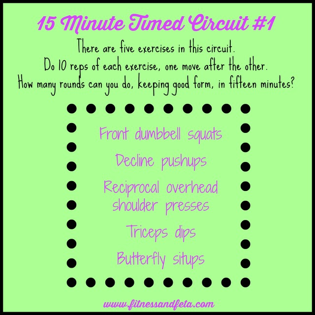 15 minute timed circuit #1
