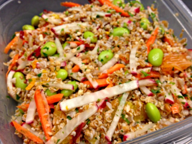 Bulgur Salad with Edamame and Carrots