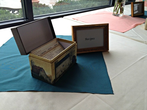Slesh's Bridal Shower: Recipe Box