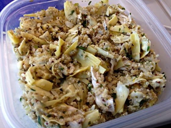 Lemon Chicken Quinoa with Artichokes