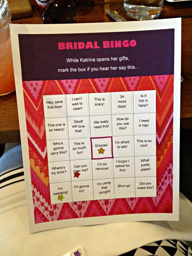Katrina's Bridal Shower: Bridal Bingo