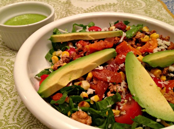 Southwestern Fiesta Salad with Cilantro Lime Dressing