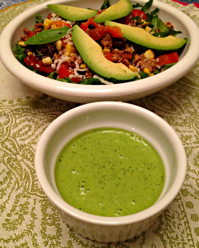 Southwestern Fiesta Salad with Cilantro Lime Dressing