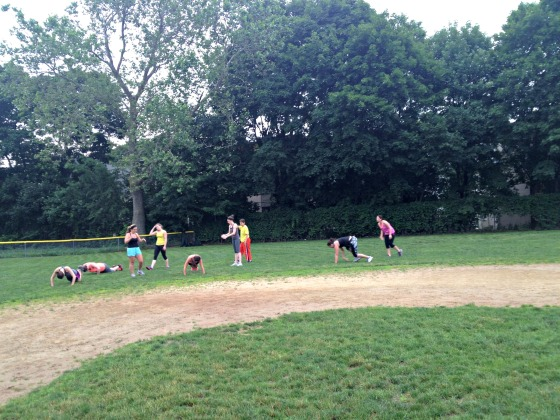 Baseball Diamond Bootcamp Workout