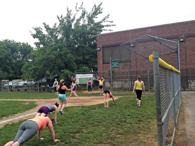 Baseball Diamond Bootcamp Workout
