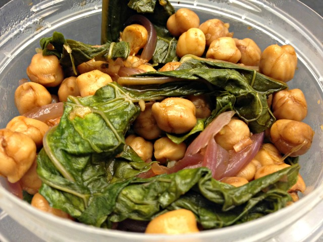 Balsamic Chickpea and Kale Salad