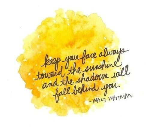 Walt Whitman Sunshine Quote