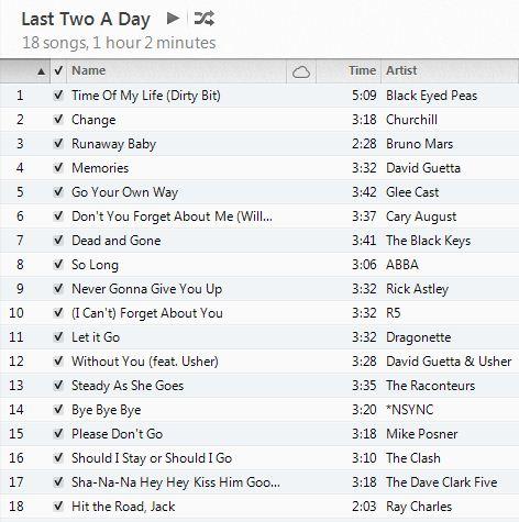 Goodbye Playlist: Last Two A Day