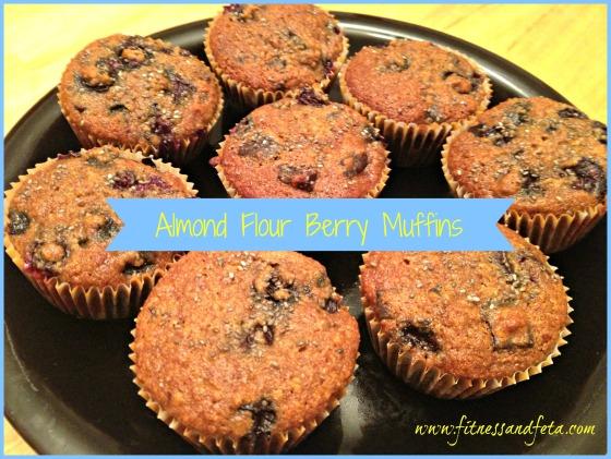 almond flour berry muffins