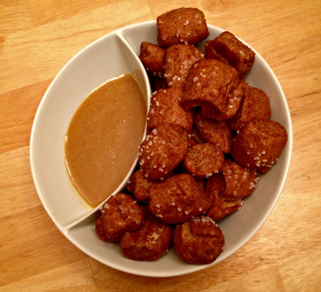 Homemade Pretzel Bites with Honey Mustard Sauce