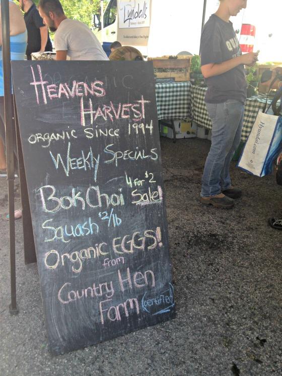 Waltham Farmer's Market: Heaven's Harvest