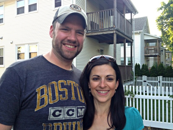 Engagement BBQ: Me and Tim