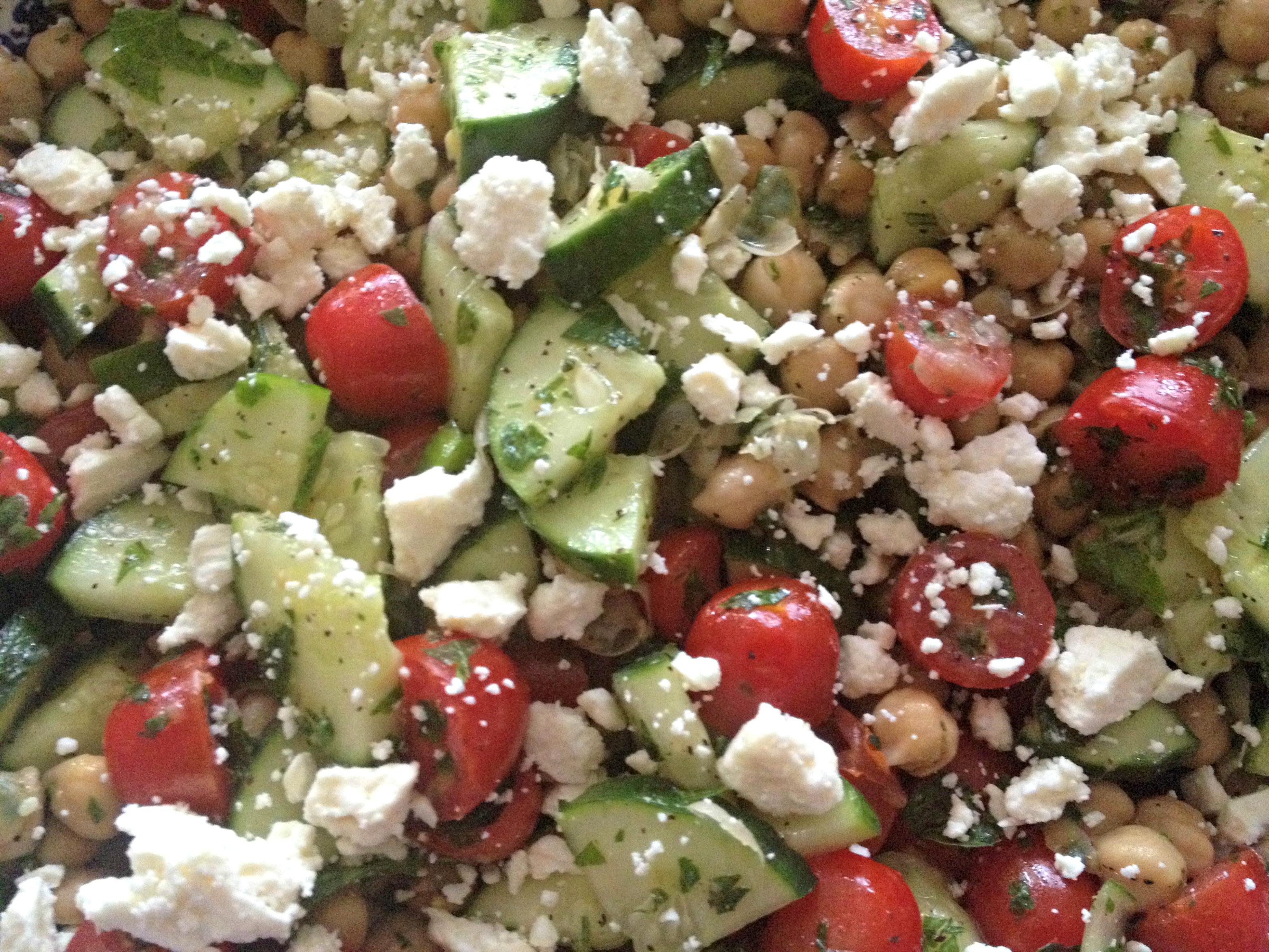Almost Mediterranean Chickpea Salad | Fitness & Feta