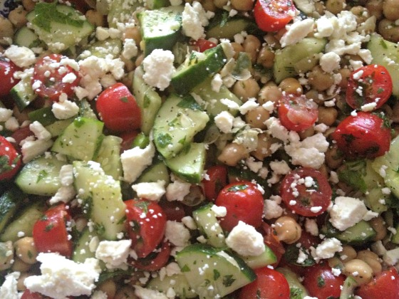 Almost Mediterranean Chickpea Salad