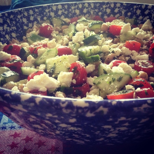4th of July 2014: Chickpea Salad
