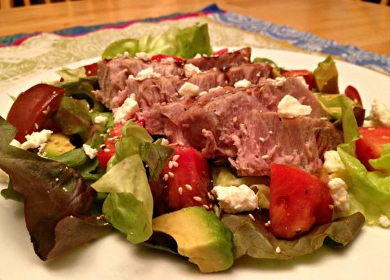 Summer 2014 CSA: Tuna steak salad