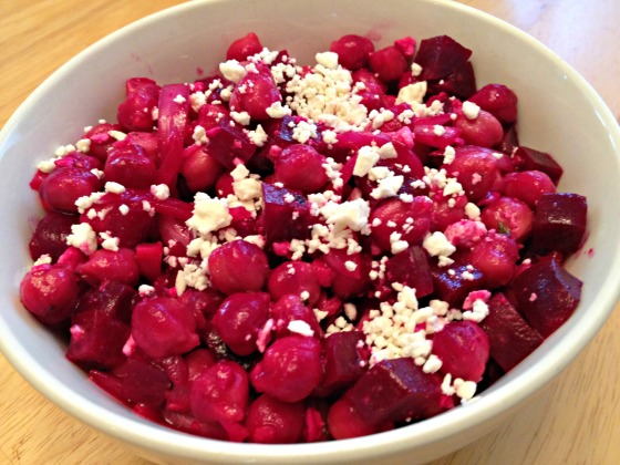 Summer 2014 CSA: Chickpea and Beet Salad