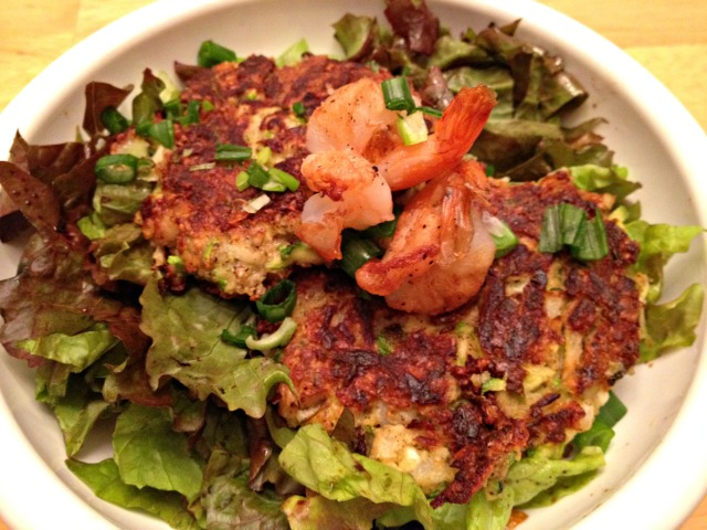 Summer CSA 2014: Zucchini and Shrimp Fritters