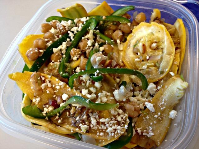 Summer 2014 CSA: Summer squash and chickpea salad