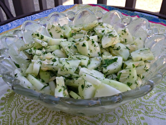 Summer 2014 CSA: Easy Cucumber Salad