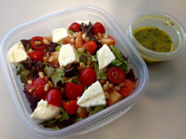 Summer 2014 CSA: Grilled plum salad