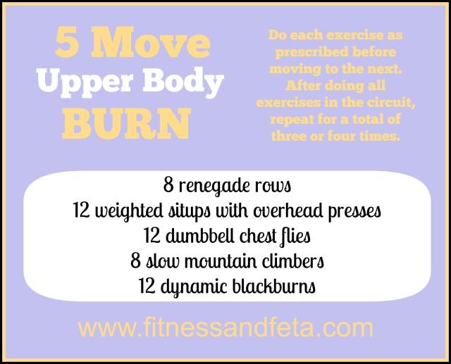 Five Move Upper Body Burn