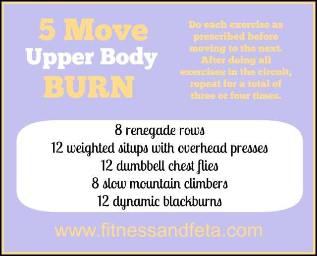 Five Move Upper Body Burn