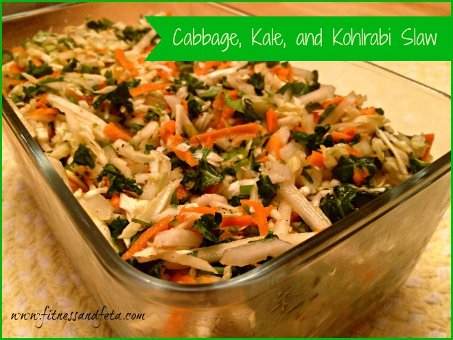 Cabbage, Kale, and Kohlrabi Slaw