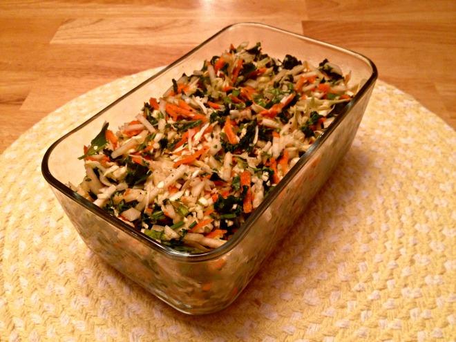 Cabbage, Kale, and Kohlrabi Slaw