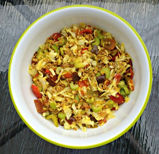 Vegetarian Lunchtime Cabbage Stir Fry