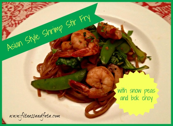 Asian Style Shrimp Stir Fry with Snow Peas and Bok Choy