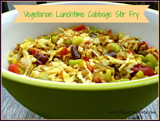 Vegetarian Lunchtime Cabbage Stir Fy
