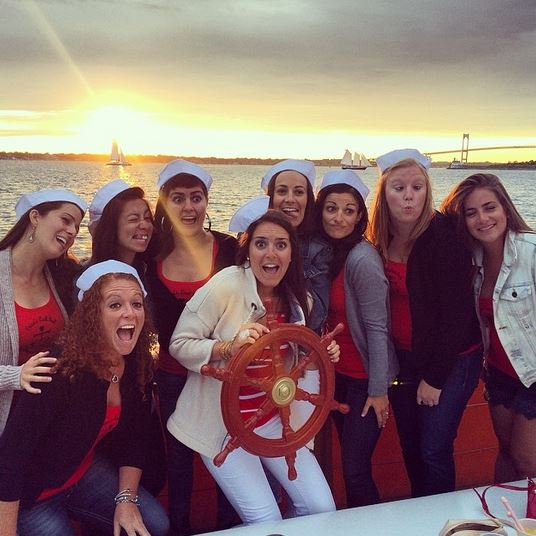 Erica's Last Sail Before the Veil: Bridal party